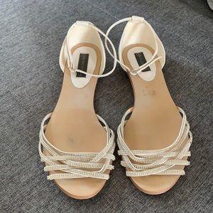 Forever New Crystal Detail Ballet Sandals Size 42